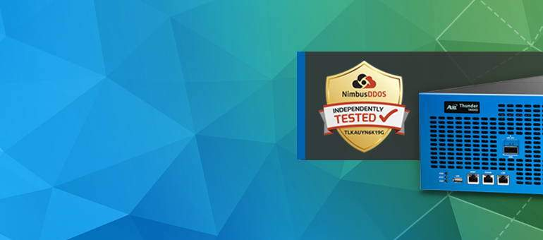 Thunder TPS Achieves NimbusDDOS Certification